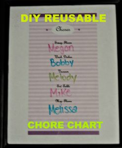 DIY Reusable Chore Chart