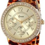 Rhinestone Tortoise Shell Watch $9.99