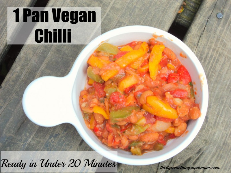 One Pan Vegan Chilli Ready in Under 20 Minutes