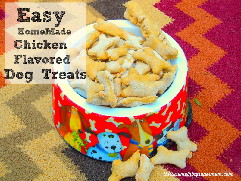 Easy Homemade Chicken Flavored Dog Treats