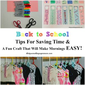 Back to School Tips for Saving Time