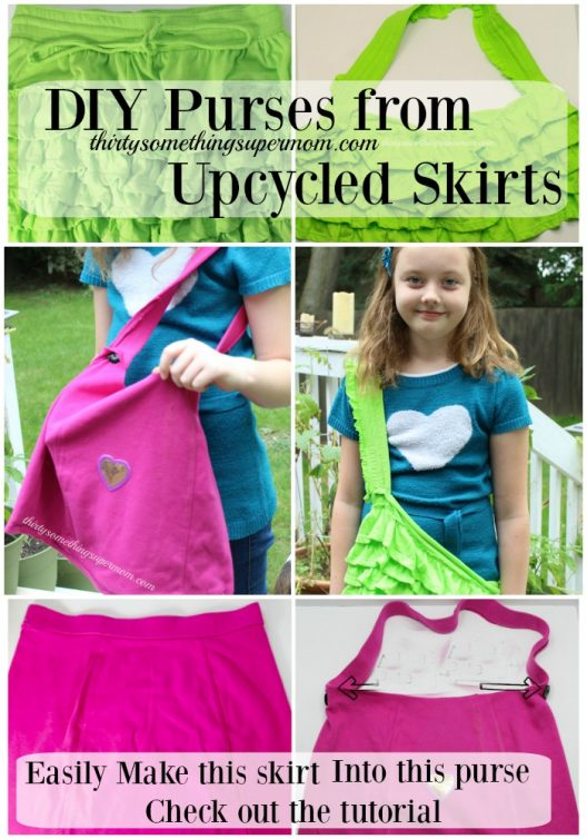 Easy DIY Skirt Upcycled Purse