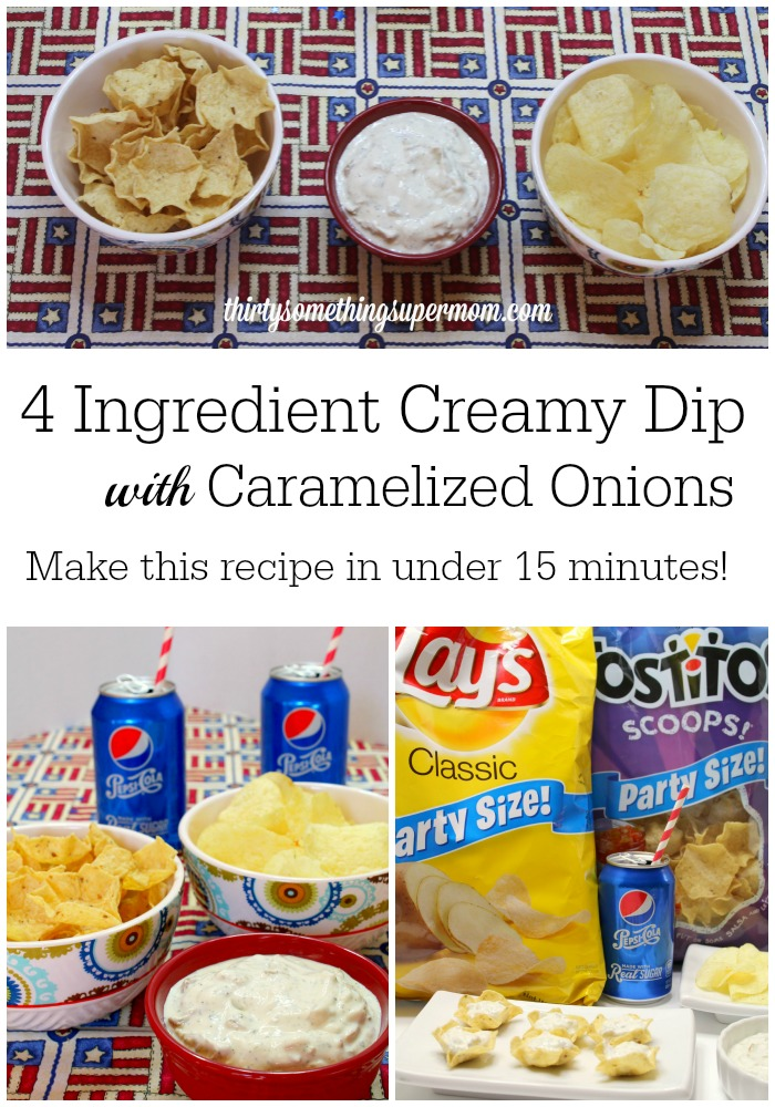 4 Ingredient Creamy Dip with Caramelized Onions