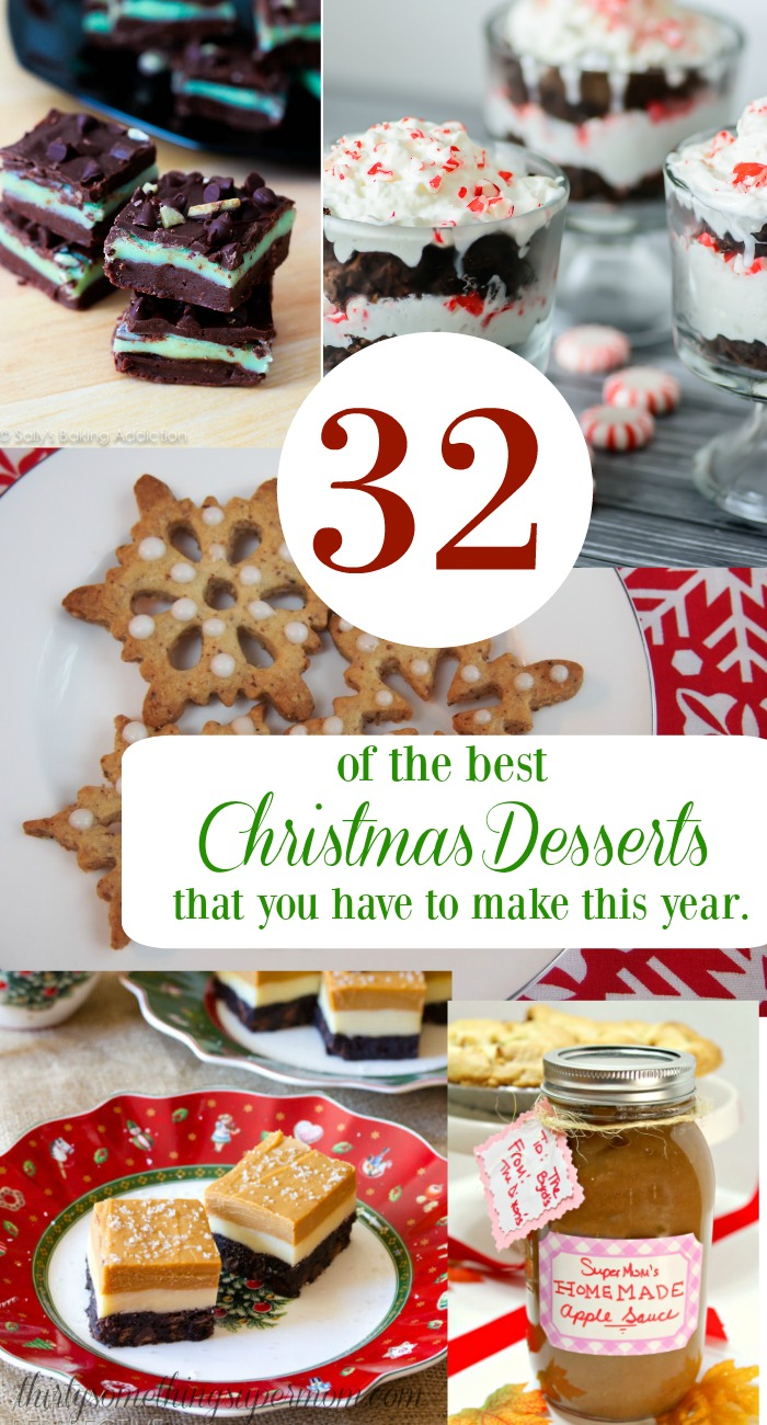 These Christmas Desserts are so easy list is so good, I need to make them all!