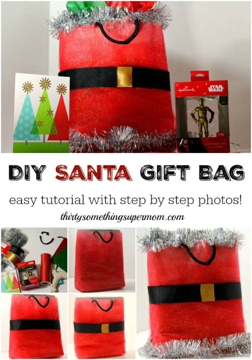 Easy DIY Santa Gift Bag Tutorial