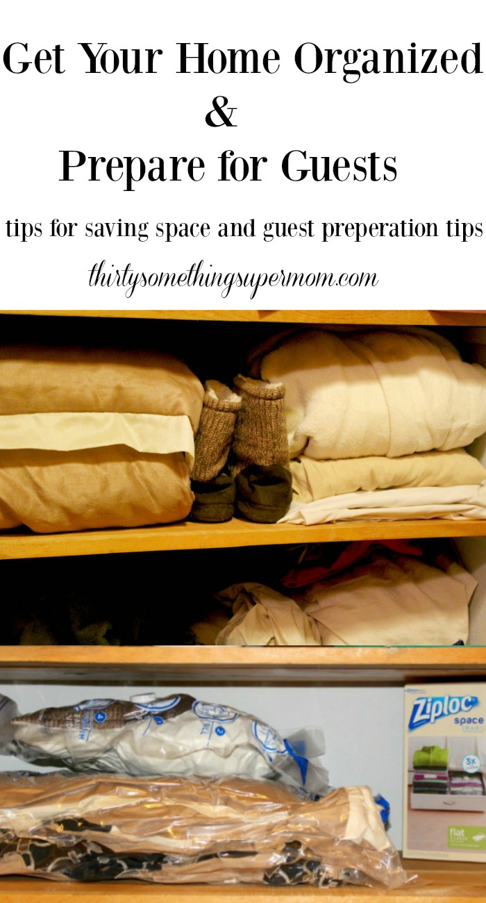 These tips for getting ready for guests will save so much space!
