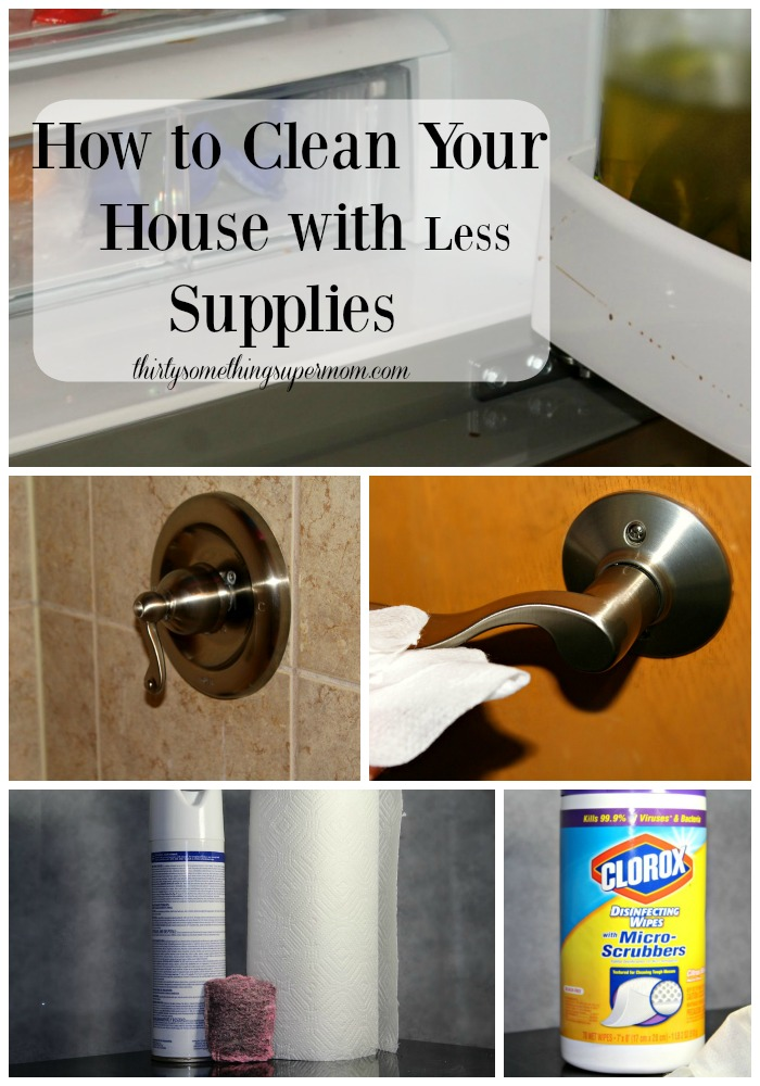 How to Clean Your House with Less Supplies This one tip will get you organized and have a cleaner house! Thirtysomethingsupermom
