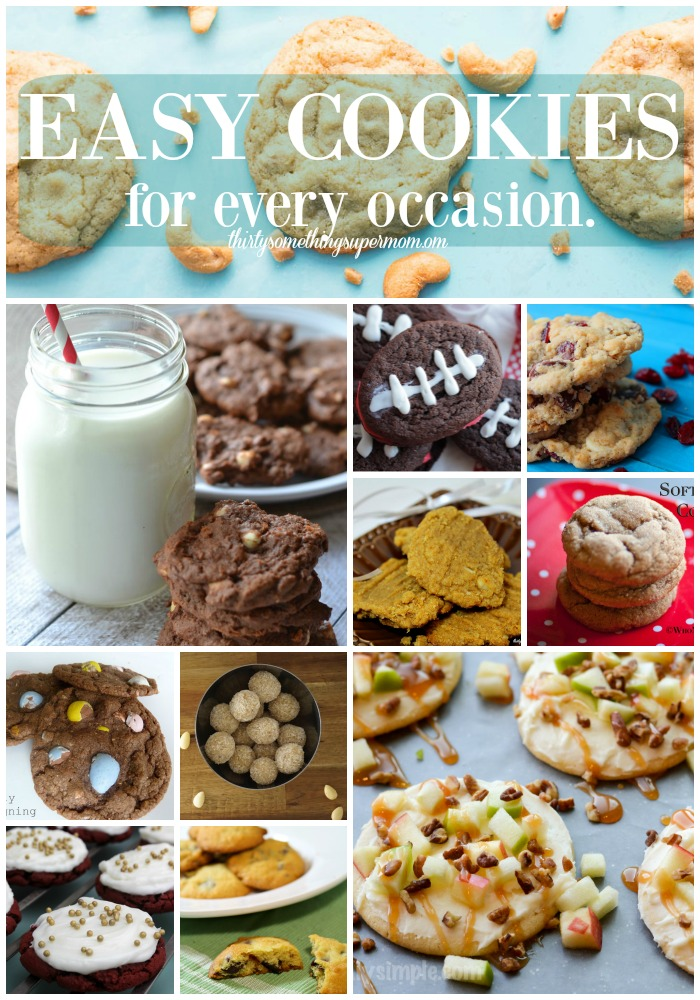 I can't believe how easy these cookie recipes are. There are so many here and there are some for every occasion! Saving this for later!
