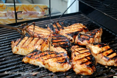 Lemon Soaked BBQ Pork Chops