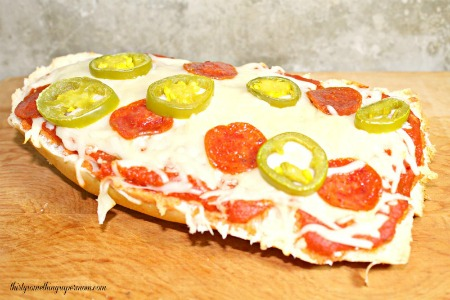 French Bread Pizza on the Grill