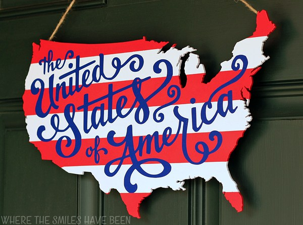diy patriotic door hanger