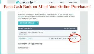 Cash Back While Shopping with Splender