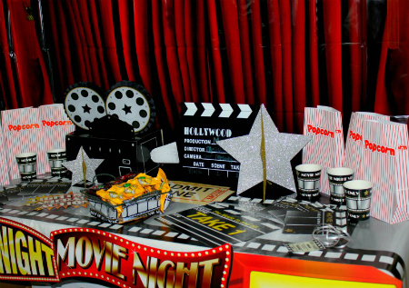 Movie Night Theme Party & Free Printable V.I.P. Invitations