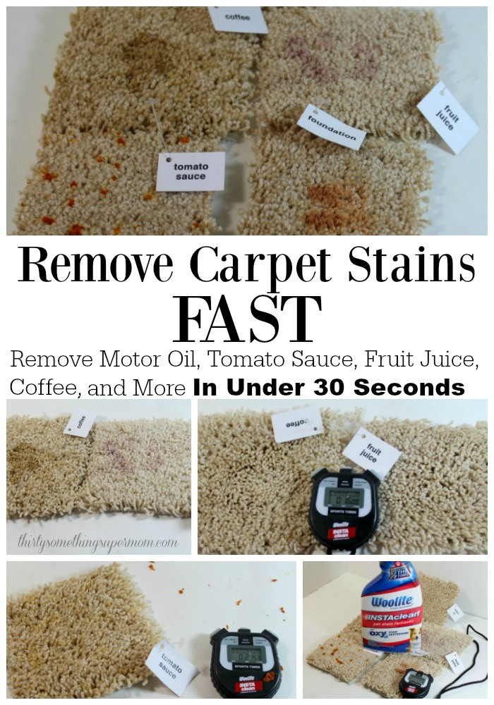Remove Carpet Stains Fast