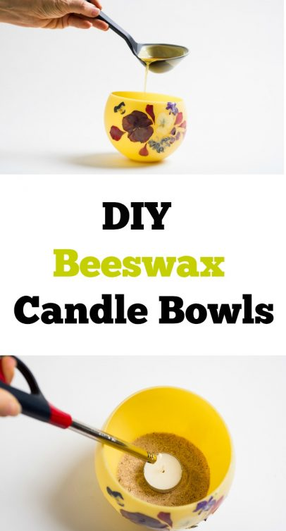 DIY Beeswax Candle Bowls