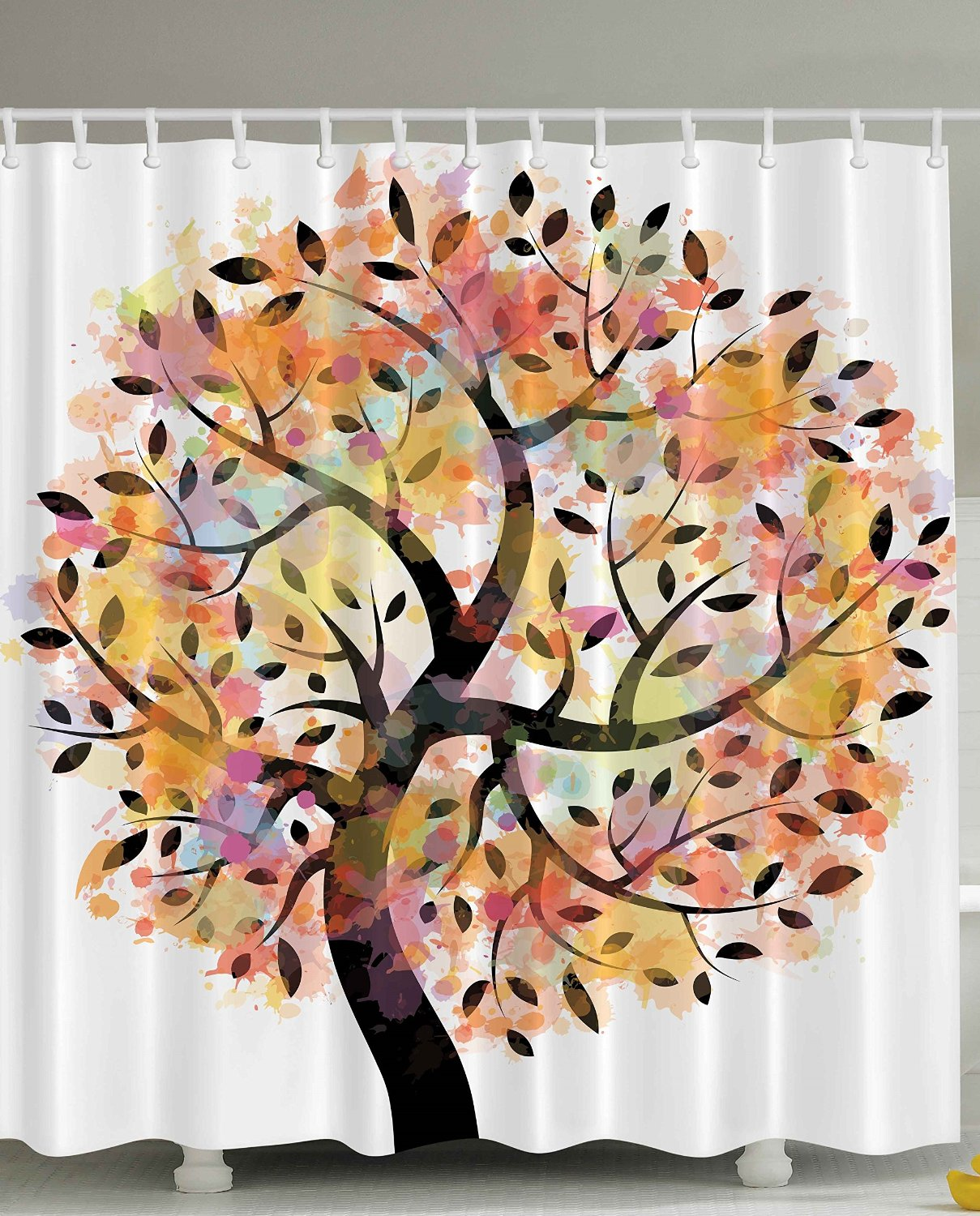 Autumn Leaves Shower Curtain Part   46: Autumn Leaves Shower Curtains Fabric